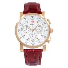 Michele Sport Sail Rose Gold White Dial Chronograph Women's Watch MW01C00B3001