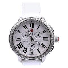 Michele Stainless Steel Diamond Serein Watch
