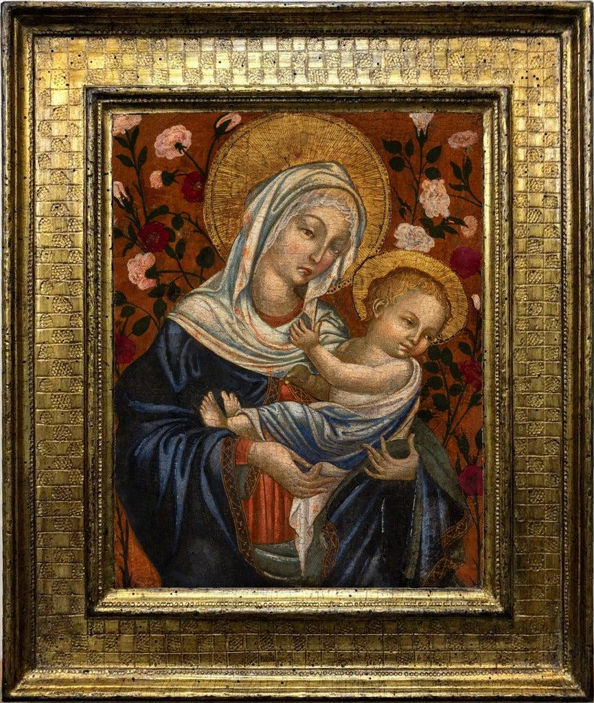 Madonna with a Child, tempera on a gilt panel