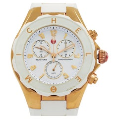 Michele Tahitian Large Jelly Bean Steel White Dial Ladies Watch MWW12F000008