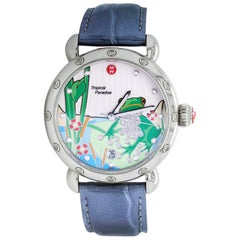 Michele Tropical Paradise Limited Edition Ladies Watch with Alligator Skin Strap