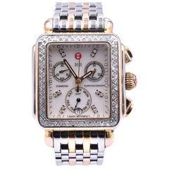 Michele Two-Tone Deco Diamond Watch Ref. MW06P01C5046