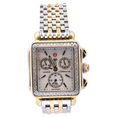 Michele Two-Tone Stainless Steel Diamond Deco