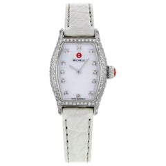 Michele Urban Coquette White MOP Dial Diamonds Steel Ladies Watch MWW08A000223