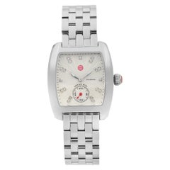 Michele Urban Mini Seel Diamond Silver Dial Ladies Watch