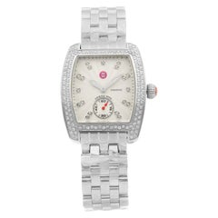 Michele Urban Mini Steel Diamond Silver Dial Quartz Ladies Watch MWW02A000508