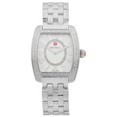 Michele Urban Mini Steel Diamond Silver Dial Quartz Ladies Watch MWW02A000572