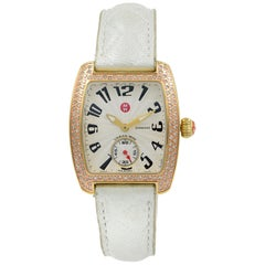 Michele Urban Mini White Dial Diamond Steel Quartz Ladies Watch MW02A01G9001