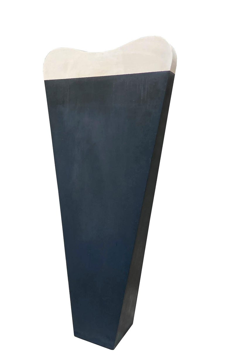 Lacquered wood sculpture made by the artist Michele Zaza in the 1990s. Michele Zaza was born in Molfetta (Puglia) on 7 November 1948.  After attending the Institute of Fine Arts in Bari, he moved to Milan to follow Marino Marini's sculpture course