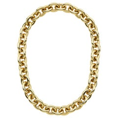 Micheletto Gold Italian Link Necklace and Bracelet Combination
