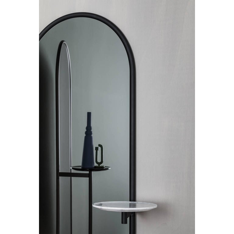 Michelle Floor Mirror with Tubular Steel Frame, Smoked Mirror and Marble In New Condition For Sale In Sydney, NSW