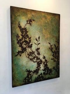Flow, Botanical, Oil, Oil Glazes, Nature, Optimistic, Vines, Green, Brown