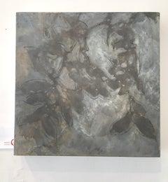 Nebular Vines 9441, botanical, Nature artwork, Farmhouse, Silver