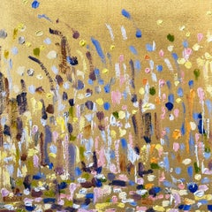 Abstract Gold Leaf Oil Painting, Michelle Sakhai, 'Passage'