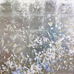 Silver leaf oil painting, Michelle Sakhai, Quiet You