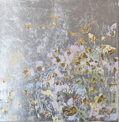 Silver leaf oil painting, Michelle Sakhai, Secrets