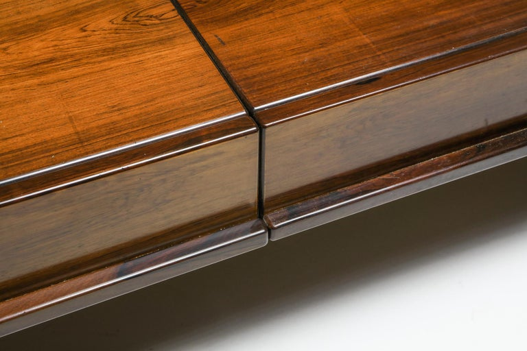 Michelluci Walnut Coffee Table with Storage For Sale 2