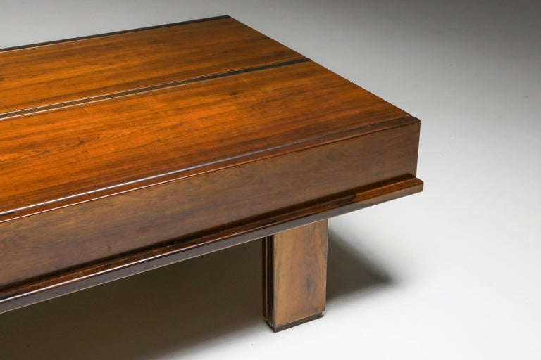 Michelluci Walnut Coffee Table with Storage For Sale 3