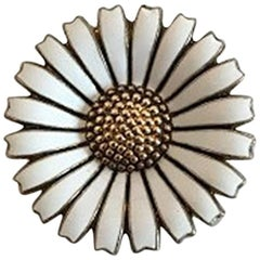 Michelsen Daisy/Marguerite Brooch in Sterling Silver/Enamel