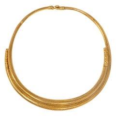 Michelsen of Copenhagen Antique 19th Century Gold Iron Age Style Torque Necklace