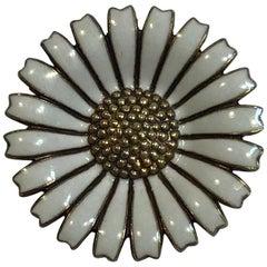 Michelsen Sterling Silver Marguerit 'Daisy' Brooch