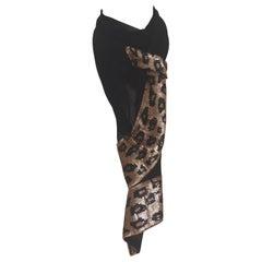 Michiblu black sequins scarf - foulard