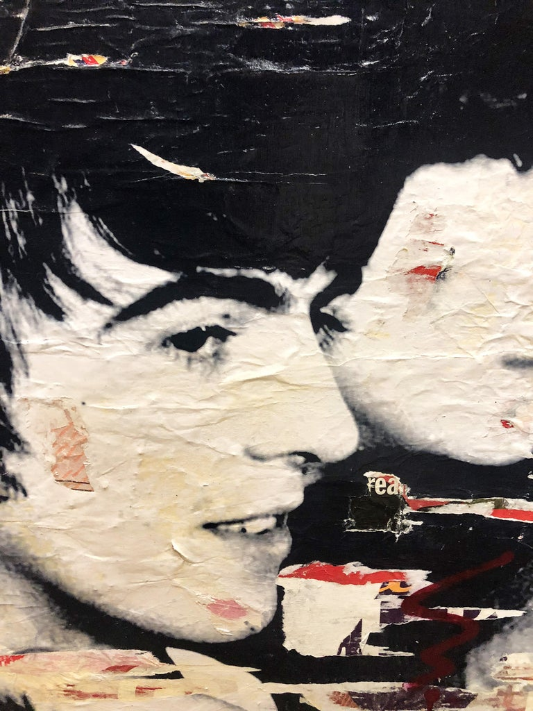 Beatles - Original Collage on Canvas - 39 x 63 in. - Pop Art Mixed Media Art by Michiel Folkers