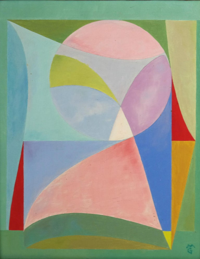 Pair of paintings by Gloeckner 'Cornwall Hills' and 'Rosa' - Abstract Geometric Painting by Michiel Gloeckner