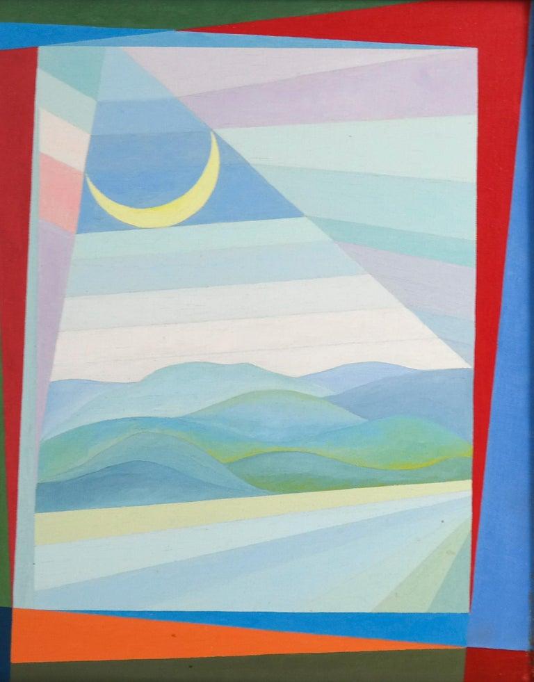 Michiel Gloeckner Abstract Painting - Pair of paintings by Gloeckner 'Cornwall Hills' and 'Rosa'