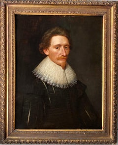 17th century Dutch Old Master Portait of a man - Lace Collar - Dutch golden age
