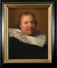 Portrait of a Gentleman, wearing a large ruff - Dutch School Old Master