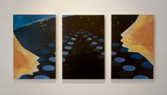 Michiko Itatani, Night Wing from Infinite Vision IV, 2006 oil on canvas triptych