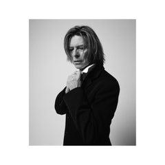 Bowie, In Black Jacket Looking Down, NYC