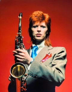 David Bowie With Saxophone 1973 Signed Limited Edition