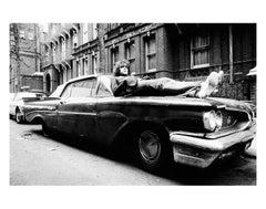 Syd Barrett, Lying On Car, Earls Court Square, London 1969