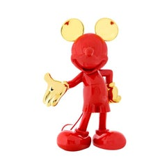 Mickey Bi-Color pop sculpture figurine, Made in France