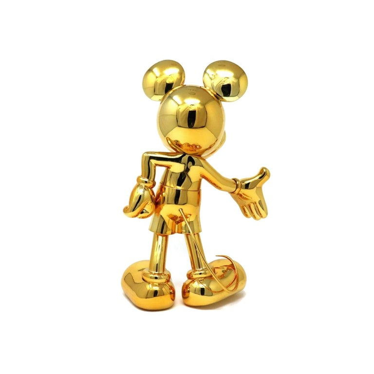 French Mickey metallic figurine, made in France For Sale