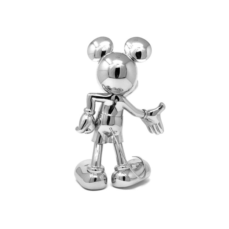 French Mickey Metallic pop sculpture figurine, Made in France For Sale