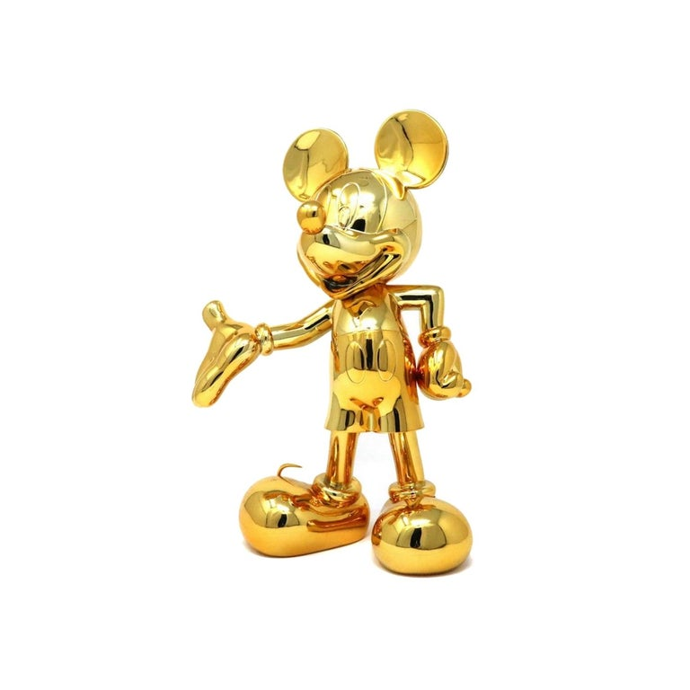 Mickey metallic figurine, made in France In New Condition For Sale In Beverly Hills, CA