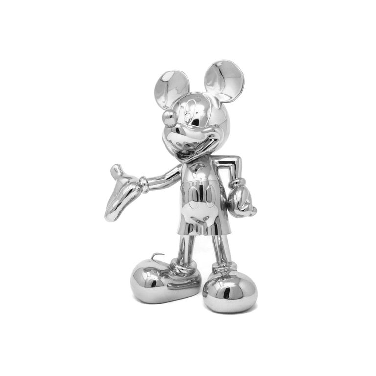 Mickey Metallic pop sculpture figurine, Made in France In New Condition For Sale In Beverly Hills, CA