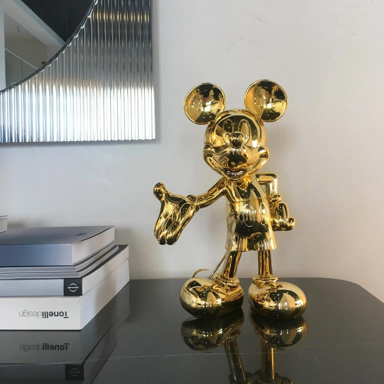 Contemporary Mickey metallic figurine, made in France For Sale