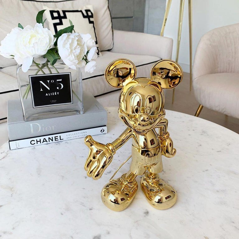 Chrome Mickey metallic figurine, made in France For Sale