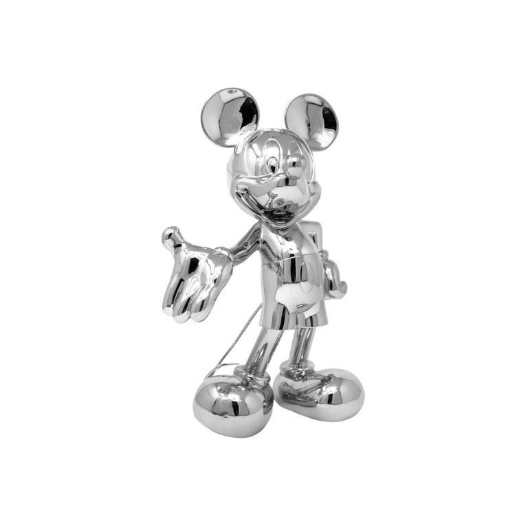 Mickey Metallic pop sculpture figurine, Made in France For Sale