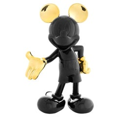 In stock in Los Angeles, Mickey Mouse Black and Gold Pop Sculpture Figurine