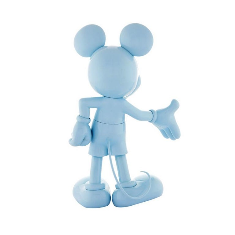 Modern In Stock in Los Angeles, Mickey Mouse Glossy Pastel Blue, Pop Sculpture Figurine For Sale
