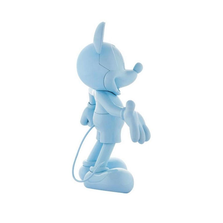 French In Stock in Los Angeles, Mickey Mouse Glossy Pastel Blue, Pop Sculpture Figurine For Sale