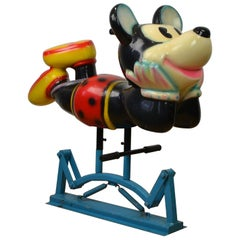 Mickey Mouse Carousel Figure on Swing in the Style of Bernard Kindt