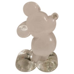 Mickey Mouse Glass Figurine, Paperweight