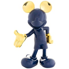 In Stock in Los Angeles, Mickey Mouse Navy Blue / Gold Pop Sculpture Figurine