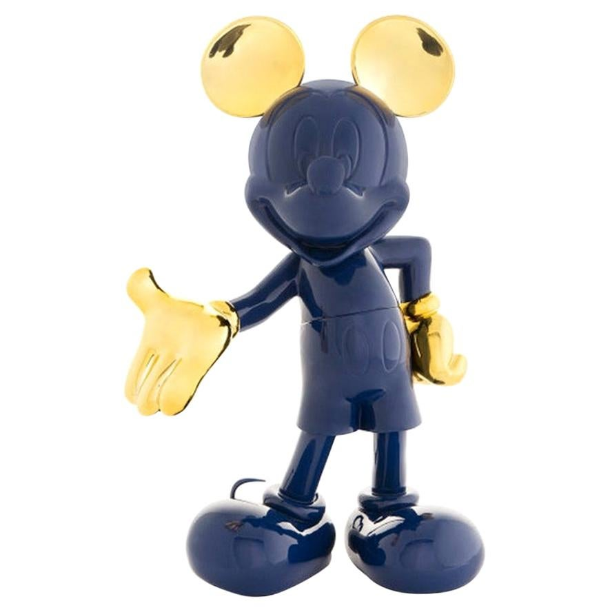 In Stock in Los Angeles, Mickey Mouse Navy Blue & Gold, Pop Sculpture Figurine